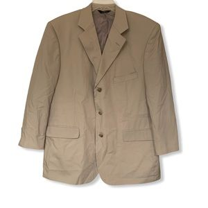 Brooks Brothers tan career suit coat blazer 46R
